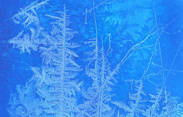 Picture cold, winter, frost, glass, pattern, window