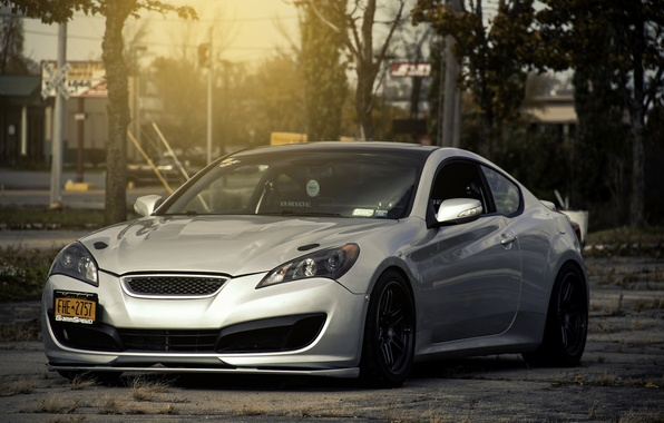 Picture tuning, silver, coupe, silver, Hyundai, tuning, coupe, Hyundai, genesis