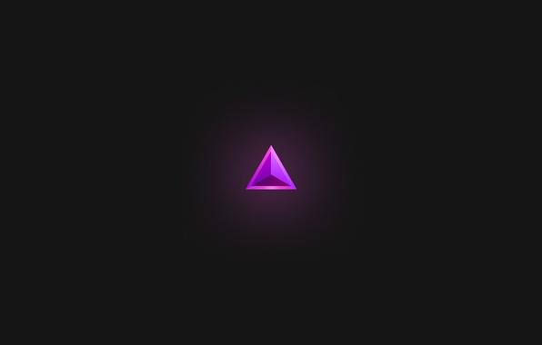 Picture purple, minimalism, triangle