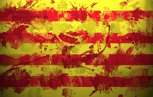 Picture squirt, paint, Flag, Spain, Barcelona, Barcelona, Catalonia, Espana, Catalonia, Catalonha, Catalonia