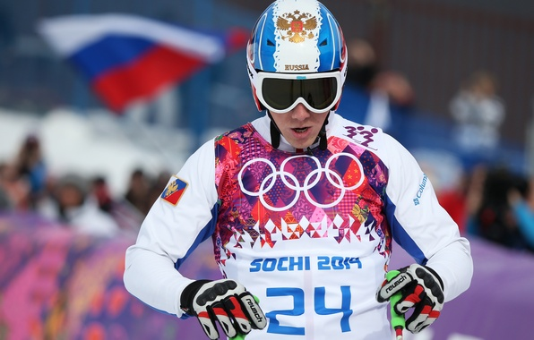 Picture flag, glasses, helmet, Russia, coat of arms, RUSSIA, Sochi 2014, The XXII Winter Olympic Games, …