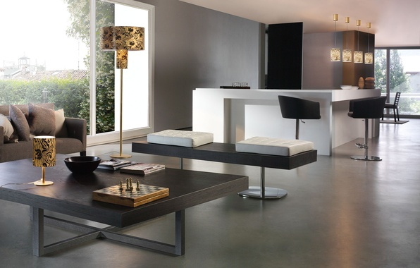 Picture design, house, style, interior, apartment, living room