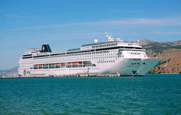 Picture sea, the sky, ship, liner, cruise