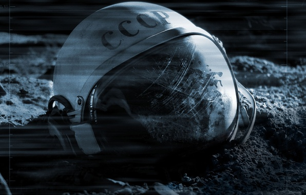 Photo wallpaper Moon, CCCP, Apollo 18, Movie, Astronaut Helmet, SSSR