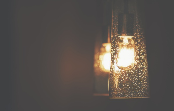 Picture light, gold, night, lamp