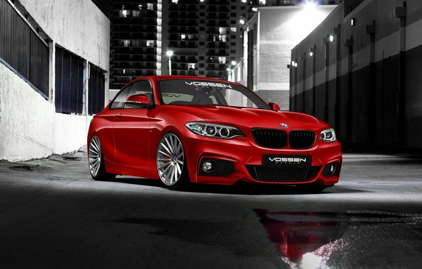 Picture BMW, BMW, before, red, red, front, 2 Series, 220d