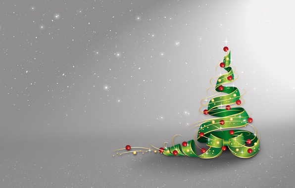 Picture stars, balls, snow, decoration, holiday, Christmas, New year, Tree, Christmas, stars, New Year