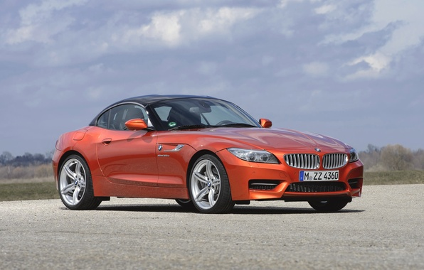 Picture Roadster, Auto, BMW, Convertible, BMW, Orange, Day, Coupe, Side view