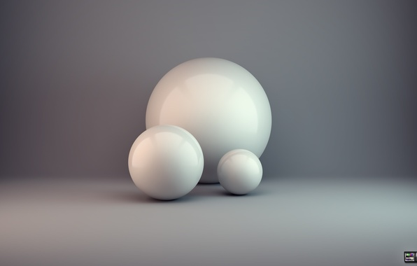 Picture abstraction, rendering, balls, minimalism, condezine