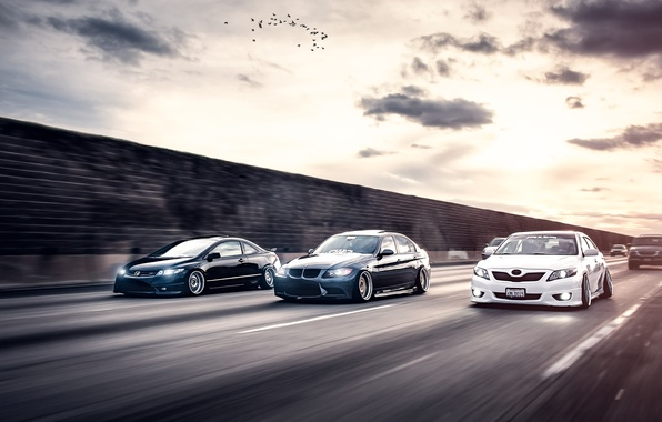 Picture bmw, honda, toyota, civic, camry, stance