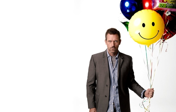Picture white, balls, House M.D., Hugh Laurie, Hugh Laurie