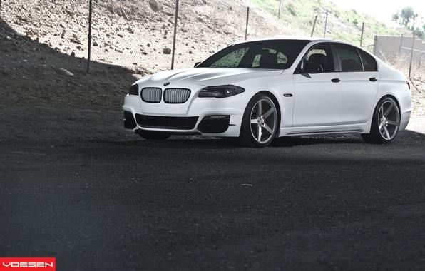 Picture BMW, white, 5 series, f10, vossen