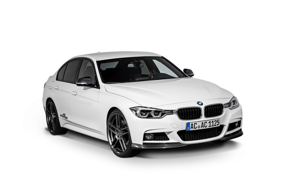 Photo wallpaper AC Schnitzer, white background, 3-Series, sedan, F30, BMW, BMW