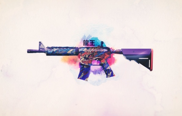 Picture weapons, background, Weapons, Gun, rifle, assault, Steam, Skin, Weapon, counter strike global offensive, cs go, …