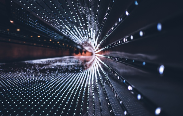 Picture macro, light, the city, glare
