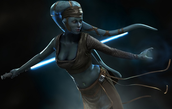 Picture Lightsaber, Aayla Secura, Lightsaber, star wars wallpaper, candidates with