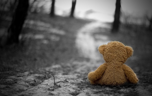 Picture cold, sadness, autumn, loneliness, sadness, Toy, nostalgia