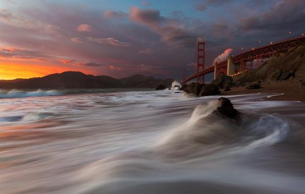 Picture Golden Gate Bridge, San Francisco, Marshall Beach