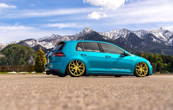 Picture Volkswagen, golf, tuning, GTI, stance, MK7