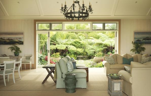 Picture design, house, style, Villa, interior, cottage, New Zealand, living space, Kauri Cliffs, Garden Owner's Cottage