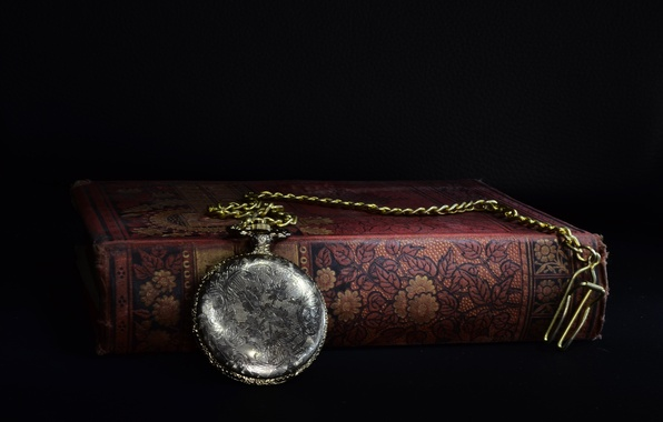 Picture watch, book, chain, old, pocket