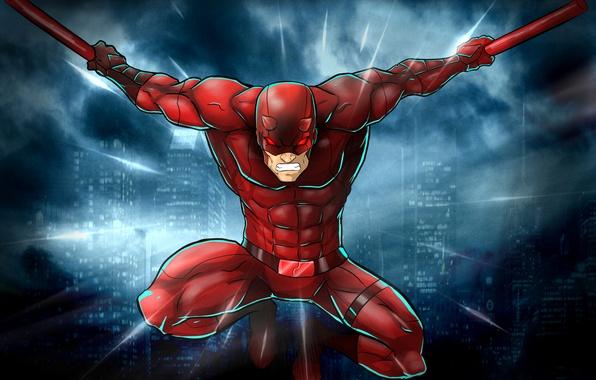Picture costume, superhero, Marvel Comics, Daredevil, Matt Murdock