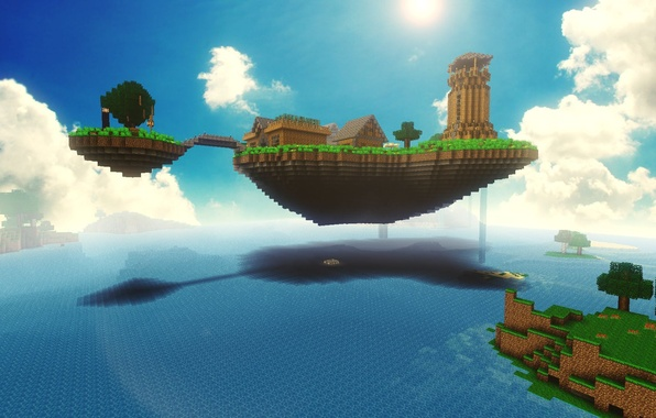 Picture sea, nature, beauty, Minecraft