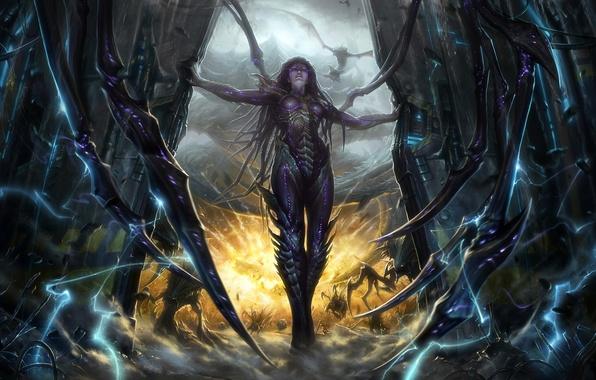 Picture Queen, StarCraft 2, Heart of The Swarm, Sarah Kerrigan, Blizzard Entertainment, Video Game, Queen of …