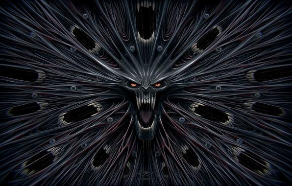 Picture skull, horror, Evil