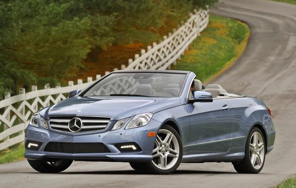 Picture road, machine, road, Mercedes, mercedes benz e550 cabriolet