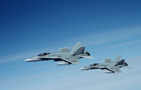 Picture The sky, The plane, Deck, Fighter-bomber, Attack, F/A-18 Hornet, McDonnel Douglas
