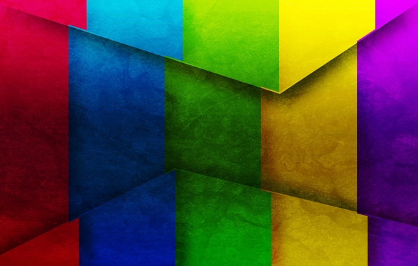 Picture strip, triangles, corners, texture