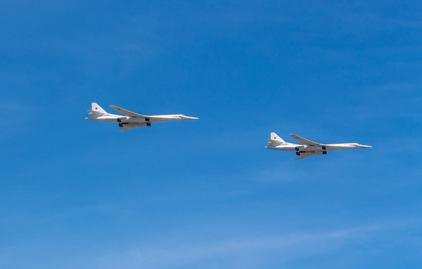 Picture The sky, Moscow, Flight, Pair, Tupolev, The Tu-160, Victory, Parade, 2015