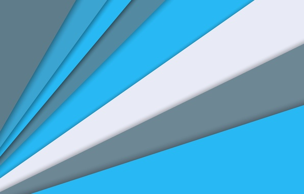Picture Android, Blue, Design, Line, White, Stripes, Abstraction, Material, 5.0. Lollipop