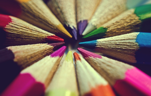 Picture color, macro, background, widescreen, Wallpaper, mood, colored, pencils, wallpaper, colorful, widescreen, background, full screen, HD …