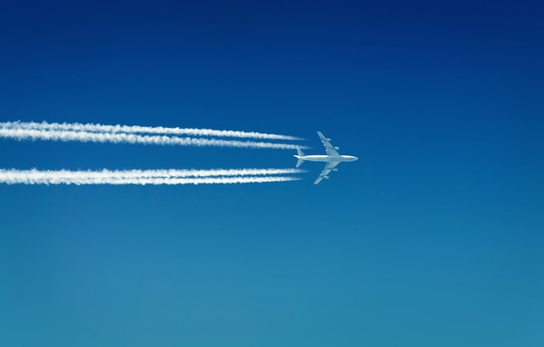 Picture white, the sky, aviation, traces, strip, travel, mood, mood, strip, heaven, smoke, speed, train, flight, …