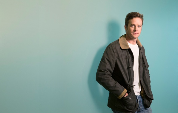 Picture background, jeans, jacket, newspaper, actor, Armie Hammer, Armie Hammer, USA Today, Medan Dan Mac