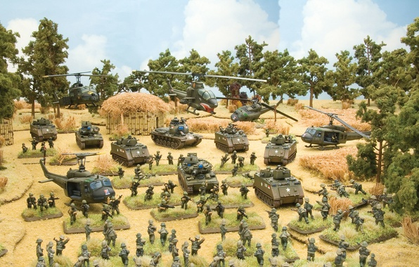Picture the game, art, the, soldiers, Flames of War, miniatures, Tropic Lightning, vietnam war, game., table, …