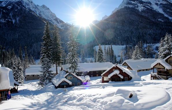 Picture USA, winter, Washington, Holden Village