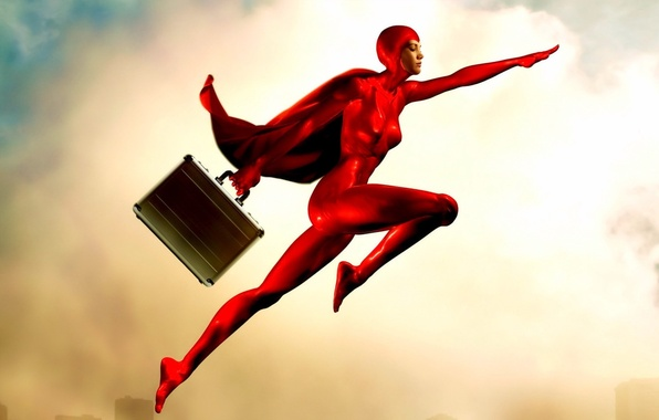 Picture red, suitcase, Hero