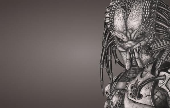 Picture weapons, monster, predator, alien, alien, predator