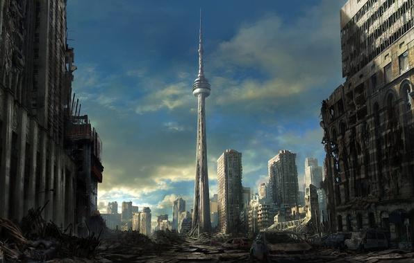 Picture machine, the city, building, art, the ruins, devastation, ruins, Toronto, postapocalyptic, toronto