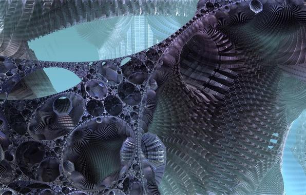 Picture light, fiction, design, structure, 3D fractal