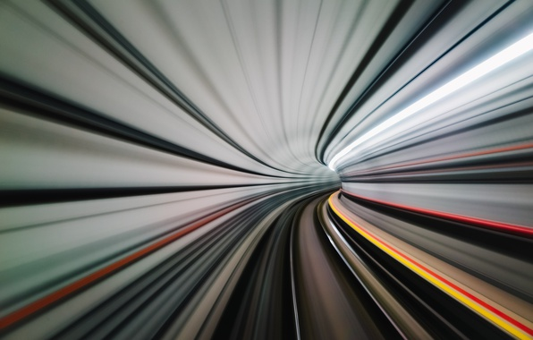 Picture the city, movement, speed, the tunnel