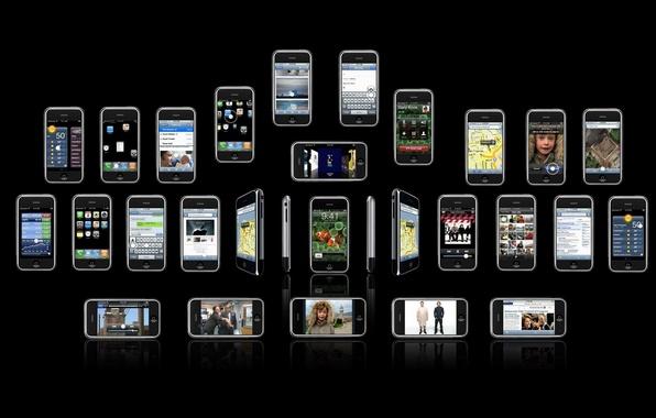 Picture iphone, brand, phones, iPhones, telefonchiki, cell phones, cellphones
