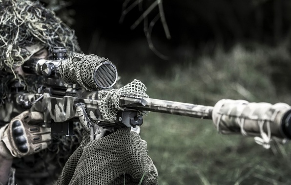 Wallpaper Army, Soldier, Sniper Rifle, Equipment images for desktop, section мужчины - download