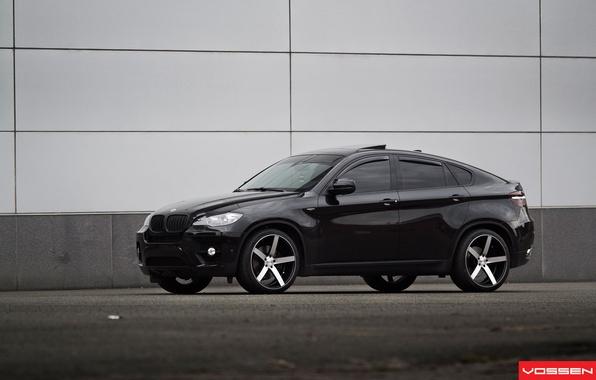 Picture black, jeep, drives, Tuning, BMW X6, Vossen, BMW x six
