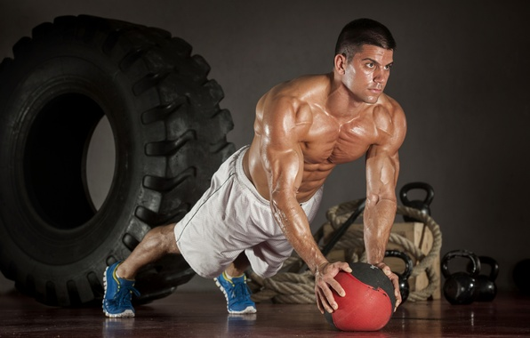 Photo Wallpaper Power Workout Fitness Perspiration Bodybuilder