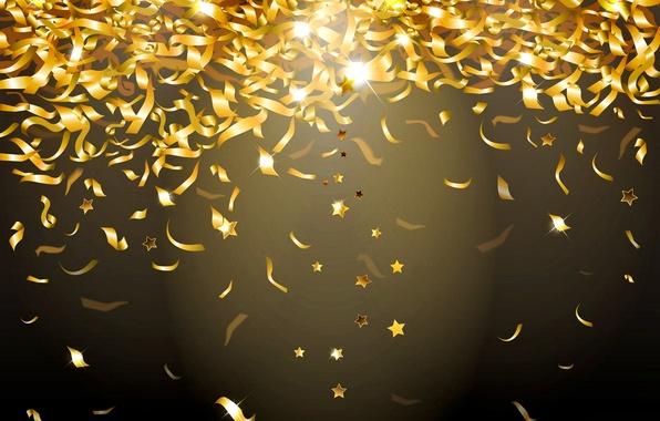 Picture lights, background, gold, sequins, golden, glow, confetti, sparkle, glitter, confetti