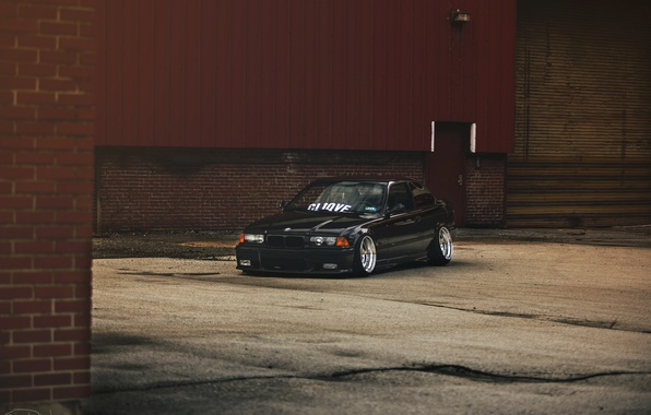 Picture tuning, BMW, BMW, black, black, stance, e36